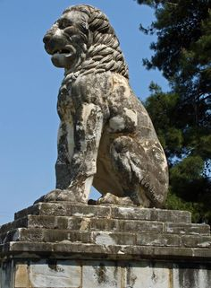 The Lion of Amphipolis, the monument that is located near Amphipolis, was once at the top of Amphipolis Tomb.