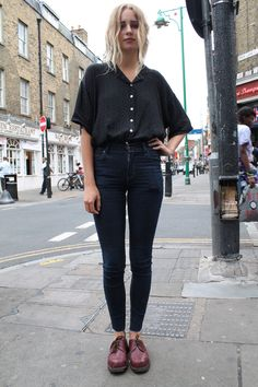 Ottilia 19 Works at Blitz Vintage on Brick Lane and is also a Musician favourite place for strret style is Gothenburg, Sweden This outfit is...