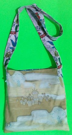 Alien Tote/Upcycled/shoulderbag by handbags, art, paintings,side bags, upcycled, fashion, barbie