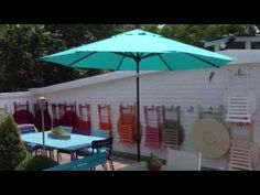 Making Umbrellas for the Fermob Bistro Furniture