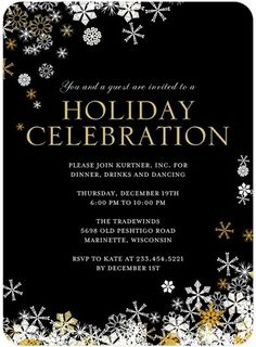 Corporate Holiday Party Invitations ~ A Night Out *plantable ...