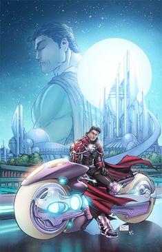 Superman: Godfall. Pretty art.  Muddled story.