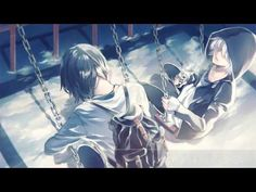 Gray and Blue / Soraru × Mafumafu【Cover】 Manga Anime, Anime Art, Kuudere, Blue Anime, Aesthetic Gif, Sakura Haruno, Cute Anime Guys, Manga Comics, Beautiful Images