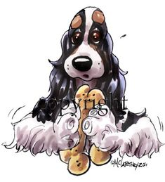 Dog Caricature Designs by McCartney -- want one for Blaze!