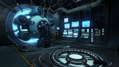 """""""Sci-Fi generator"""" is a game environment created by Edgardo Sanchez (Game Art, 2013 graduate)."""