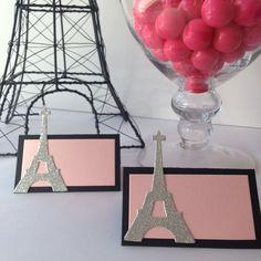 Candy Buffet Cards - Paris Themed - Eiffel Tower