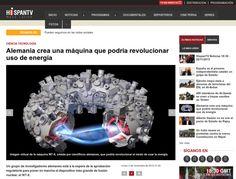 Disso Voce Sabia?: Alemanha cria uma máquina que podería revolucionar o uso da energia