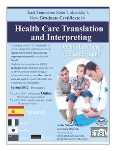 Grad Cert in Healthcare Translation Interpreting