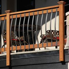 "Back Deckorators Architectural balusters provide an impressive appearance of hand-forged wrought iron, at a fraction of the cost. The Architectural deck balusters are an integral part of creating a distinctive rail design. Instead of typical wood balusters, use Deckorators to create a unique deck or porch railing. Architectural balusters offer countless railing ideas and design, without the maintenance. Features 32 1/4"" baluster for 36"" rail height Curved aluminum baluster with powder coat…"