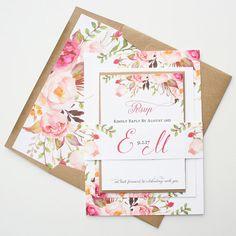 The prettiest rustic wedding invitations.