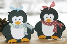www.miriD.de: Geschenkschachtel Pinguin   Penguin gift box
