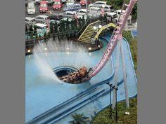 Underwater roller coaster in Japan... insane!!!!