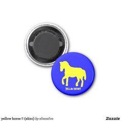 yellow horse !! (eliso) imán redondo 3 cm