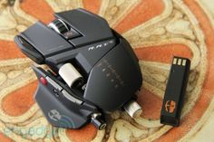 Mouse #2: Wireless, comes with rechargeable batteries, and is the transformers of mice.  Very versatile with a few dedicated gaming buttons.  The big thing I like is the wireless.
