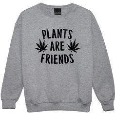 Plants Are Friends Sweater Jumper Funny Fun Tumblr Hipster Swag Grunge... ($19) ❤ liked on Polyvore featuring tops, sweaters, black, sweatshirts, women's clothing, retro sweaters, punk tops, hipster sweaters, jumpers sweaters and gothic sweaters