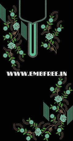 Diy Embroidery Kit, Embroidery Neck Designs, Embroidery Suits Design, Hand Embroidery Tutorial, Hand Work Embroidery, Embroidery Flowers Pattern, Couture Embroidery, Crewel Embroidery, Embroidery Designs Free Download