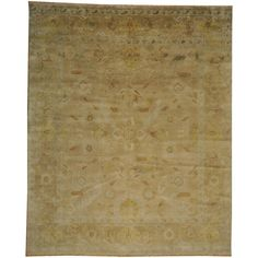 """1800getarug Hand-knotted Taupe Oushak Washed Out Wool Area Rug (8' x 9'10) (Exact Size: 8'0"""" x 9'10""""), Tan"""