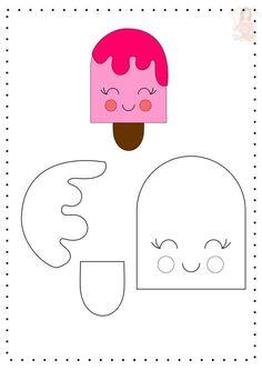 - - - Useful Summer Crafts For Kids - Yarn Crafts Videos Hanging Felt Doll Patterns, Felt Crafts Patterns, Felt Crafts Diy, Felt Diy, Diy Crafts For Kids, Paper Crafts, Yarn Crafts, Bow Template, Heart Template
