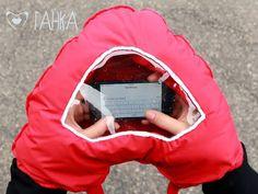 Invento para utilizar el móvil cuando llueve