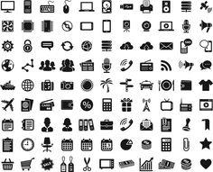 Векторные иконки и значки в черно-белом исполнении. Монитор, пульт, клавиатура, мышка, дисплей, диск, жесткий, usb, принтер, плеер, сервер, спутник, вентилятор, чип, микросхема, компакт-диск, камера, веб-камера, микрофон, рупор, шестеренка, замок, облако, сообщение, стрелки, глобус, земля, облако, конверт, телефон, смс, схема, люди, толпа, новости, трубка, радио, wifi, корабль, чемодан, сумка, фотоп-аппарат, солнце, пальма, знак, машина, тарелки, кошелек, футболка, самолет, паспорт, карта…