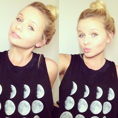 My role model, Alli Simpson. Makeup Tips, Hair Makeup, Pink Makeup, Makeup Ideas, Alli Simpson, Silver Fabric, Muscle Tank Tops, Muscle Tees, Disney Style