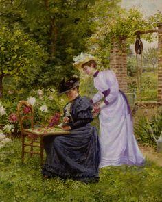 Dans le Jardin by Marie-François Firmin-Girard (1838-1921).