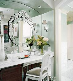 Who's the glammest of them all? Powder room vanity inspiration!