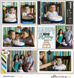Happy Birthday digital project life page using Project Mouse (Celebrate) by Britt-ish Designs and Sahlin Studio