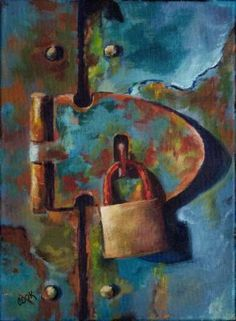 Forbidden Door with Rusty Lock - Acrylic Painting Lessons for Beginners to Advanced Artists Acrylic Painting Lessons, Acrylic Painting Tutorials, Painting Tips, Painting Art, Lock Drawing, Guache, Rusty Metal, Art Academy, Arte Popular