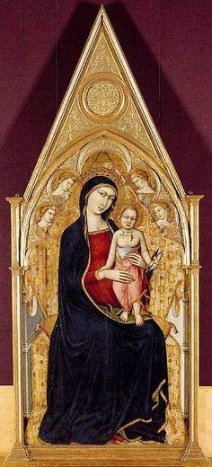 Luca di Tommè - Madonna e Bambino in trono - 1367-70 - Fitzwilliam Museum, Cambridge , Gran Bretagna