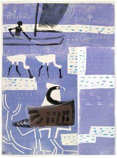 <b>osprey, spoonbill & fisherman</b> senegal monotype 77 x 56 cms ‐Greg Poole Wildlife Art, Black Art, Animal Kingdom, Printmaking, Art For Kids, Illustration Art, Child Art, Bristol Uk, Birds