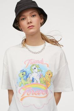 Fashion Company, Friends Forever, World Of Fashion, Printed Cotton, Pink White, Personal Style, Prints, T Shirt, My Little Pony