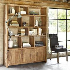 Solid sheesham wood shelf unit W Stockholm Office Bookshelves, Wood Bookshelves, Door Shelves, Wood Shelf, Wood Desk, Affordable Furniture, Online Furniture, Solid Wood Furniture, Kitchen Furniture