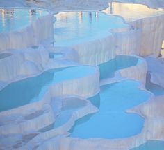 Pamukkale, Turkey - Pamukkale is aptly named, as it means cotton castle in Turkish. Pamukkale is aptly named, as it means cotton castle in Turkish. Pamukkale, Places Around The World, Oh The Places You'll Go, Places To Travel, Travel Destinations, Turkey Destinations, Wonderful Places, Beautiful Places, Amazing Places