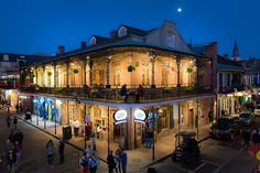 """""""Moon And Jupiter Over Bourbon Street"""" by Kristina Austin Scarcelli"""