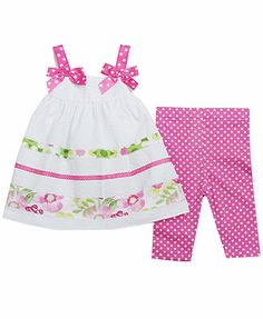 Bonnie Baby Baby Girls' 2-Piece Top & Leggings Set