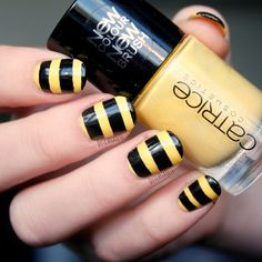 Pretty Painted Fingers & Toes Nail Polish| Serafini Amelia| Bee nails