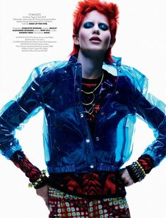 Ellinore Erichsen Channels David Bowie for Takahiro Ogawa in Elle Mexico May 2013   Fashion Gone Rogue: The Latest in Editorials and Campaigns