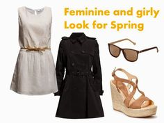 Feminine and girly street style look for spring.