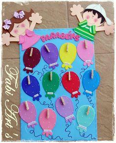 Classroom Birthday, Birthday Board, Classroom Decor, Class Decoration, School Decorations, Angst Im Dunkeln, Diy And Crafts, Crafts For Kids, Birthday Charts