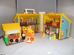 Collectible #FISHER PRICE Vintage Toy 952 Play Family House Plastic 1969 Complete Set of Accessories with Extras Classicsncollectiblesbycheryl.com