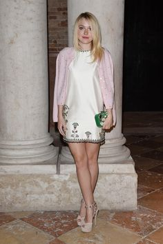 Dakota Fanning at the Miu Miu Women's Tales Dinner.