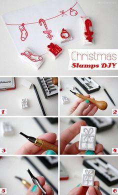 DIY Stamps for Christmas