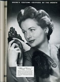 """Great Hair Fridays - """"Winged Victory"""" How To   http://vintagevisions27.blogspot.com/2012/07/great-hair-fridays-winged-victory-how.html"""