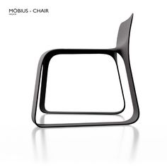 Möbius chair - recycle One surface, one edge, one material no assembly.