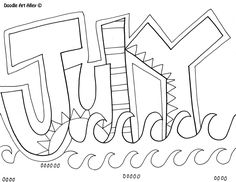 July Coloring Page