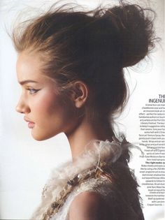 messy chic bun hairstyle