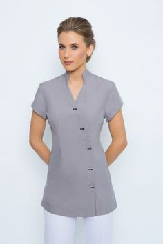 Spring Spa Wear has been one of the leading designers of beauty salon uniforms in Australia. Buy tunics for beauty uniforms, spa uniforms, hairdressing and beauty therapy professionals. Salon Uniform, Spa Uniform, Uniform Shirts, Dental Uniforms, Staff Uniforms, Work Uniforms, Housekeeping Uniform, Beauty Uniforms, Uniform Design