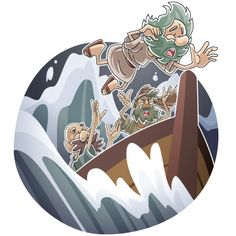 When the old man and the crew get capsized the man falls off the ship with the rest of the crew. The crew manages to escape but the old man gets swallowed by a fish. Cut Paper, Paper Cutting, Bible Stories For Kids, Bible Illustrations, Yom Kippur, Bible Crafts, Big Fish, Old Men, Sunday School