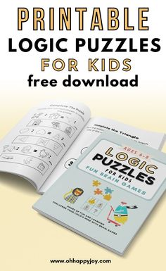 Printable Logic Puzzles For Kids  Free Download